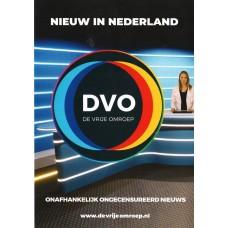 De Vrije Omroep - DVO - Flyer - set van 25 stuks - Enveloppenpost