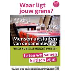 Poster - Waar ligt jouw grens - Mensen uitsluiten van de samenleving? - Set van 5 posters