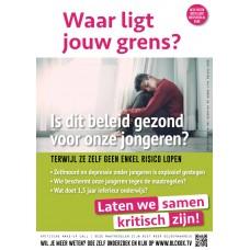 Poster - Waar ligt jouw grens - Is dit beleid gezond voor onze jongeren? Set van 5 stuks