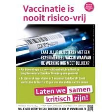Poster - Vaccinatie is nooit risico-vrij - Set van 5 stuks