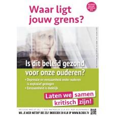 Poster - Waar ligt jouw grens - Is dit beleid gezond voor onze ouderen - Set van 5 stuks