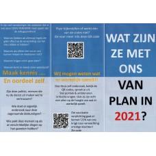 Wat zijn ze met ons van plan in 2021? - flyer - 100 stuks - Brievenbusdoosje