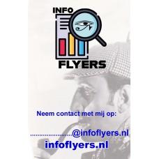 Infoflyers - Visitekaartjes - 35 stuks - Enveloppenpost