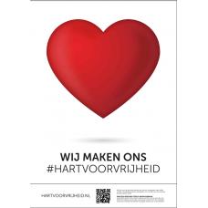 Poster - Hart voor Nederland - A3 formaat - set van 5 stuks - Enveloppenpost