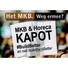 MKB en Horeca Kapot - #BuildBetter - kaartje - set van 12 stuks - Enveloppenpost
