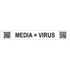 Stickers - 973010-05 - Media is virus - set van 100 stickers