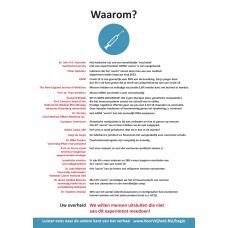 Flyer - Vaccinatie flyer - www.voorvrijheidnu.nl - Set van 10
