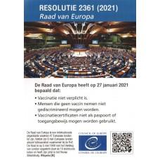 Flyer - Resolutie 2361 (2021) - Raad van Europa - 100 stuks - brievenbuspakketje