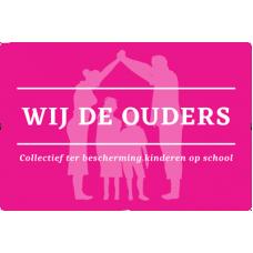 Vlag 225 x 150 of 150 x 100 – Wij de ouders - Collectief ter bescherming kinderen op school